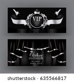 vip invitation banners with... | Shutterstock .eps vector #635566817