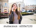 gorgeous beautiful young... | Shutterstock . vector #635567153