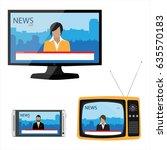 raster illustration electronic... | Shutterstock . vector #635570183
