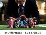 close up at gambler man used...