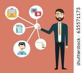 customer relationship... | Shutterstock .eps vector #635571173