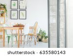 white apartment with room... | Shutterstock . vector #635580143