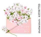 happy mothers day lettering.... | Shutterstock . vector #635587703
