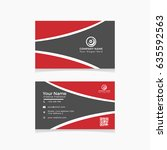 elegant business card | Shutterstock .eps vector #635592563