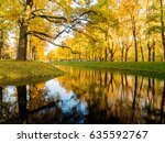colorful autumn foliage and... | Shutterstock . vector #635592767