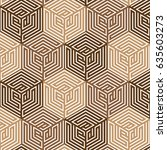 brown and white geometric... | Shutterstock .eps vector #635603273