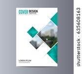abstract flyer design...   Shutterstock .eps vector #635608163