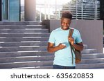 portrait of smiling african... | Shutterstock . vector #635620853