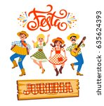 latin american holiday  the...   Shutterstock .eps vector #635624393