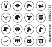 Set Of 16 Alive Icons Set...