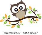Stock vector owl cute in vector 635642237