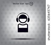 man with headphones vector icon | Shutterstock .eps vector #635645747