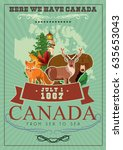 canada. canadian tradition... | Shutterstock .eps vector #635653043