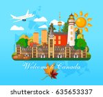 canada. canadian tradition... | Shutterstock .eps vector #635653337