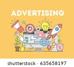 advertising concept... | Shutterstock .eps vector #635658197