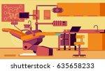 dentist office illustrations | Shutterstock . vector #635658233