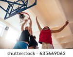 low angle shot of basketball... | Shutterstock . vector #635669063