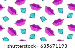 vector seamless pattern of lips ... | Shutterstock .eps vector #635671193