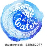 watercolor background with wave   Shutterstock .eps vector #635682077