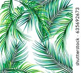 summer palms tropical background | Shutterstock .eps vector #635692673