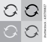 rotation arrows icon vector...   Shutterstock .eps vector #635700827