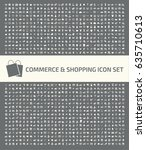 commerce and shopping icon set... | Shutterstock .eps vector #635710613