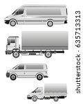truck minibus  large car | Shutterstock .eps vector #635713313