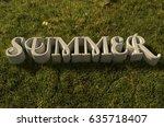 summer 3d illustration | Shutterstock . vector #635718407