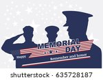 happy memorial day. greeting... | Shutterstock .eps vector #635728187