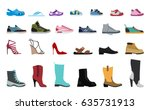 collection men's  women's and... | Shutterstock .eps vector #635731913