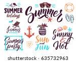 summer typography lettering... | Shutterstock .eps vector #635732963