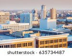 Skyline of Winnipeg with Manitoba Legislative Building. Winnipeg , Manitoba, Canada