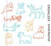 vector hand drawn doodle...   Shutterstock .eps vector #635744363