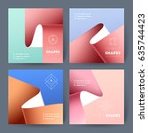 set of business brochures.... | Shutterstock .eps vector #635744423