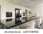 kitchen island with marble...   Shutterstock . vector #635748983