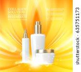 beauty skin care set. double...   Shutterstock .eps vector #635751173