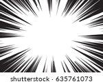background of radial lines for... | Shutterstock .eps vector #635761073