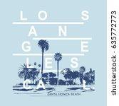california beach illustration ... | Shutterstock .eps vector #635772773