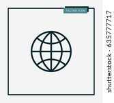 globe icon simple vector... | Shutterstock .eps vector #635777717