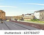 ponte vecchio florence. italy.... | Shutterstock .eps vector #635783657