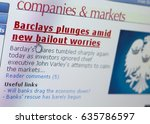 Small photo of BARCLAYS BANK SHARE PRICE FALL CRASH TUMBLE BAIL OUT, TAKEN IN CLECKHEATON, WEST YORKSHIRE, UK, 4TH NOVEMBER 2008