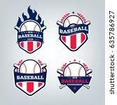 vector design set of baseball... | Shutterstock .eps vector #635786927