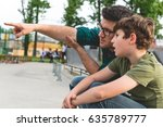 spending quality time with dad | Shutterstock . vector #635789777