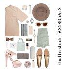 fashion blogger concept.... | Shutterstock . vector #635805653