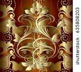 Gold Paisley Seamless Pattern....