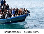 lampedusa italy  march 27  2011 ... | Shutterstock . vector #635814893
