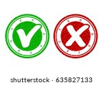 approved and rejected stamp.... | Shutterstock .eps vector #635827133