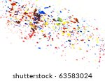 colorful watercolor splashes | Shutterstock . vector #63583024