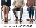 three candidates for position... | Shutterstock . vector #635833847
