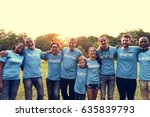 volunteer group of people for... | Shutterstock . vector #635839793